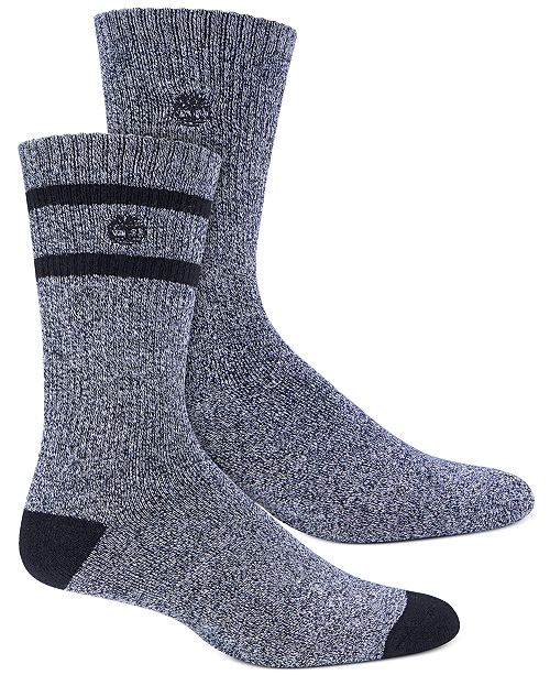 Timberland Men's 2-Pk. Marled Striped Boot Socks
