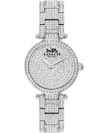 Women's Park Pavé Stainless Steel Bracelet Watch 26mm