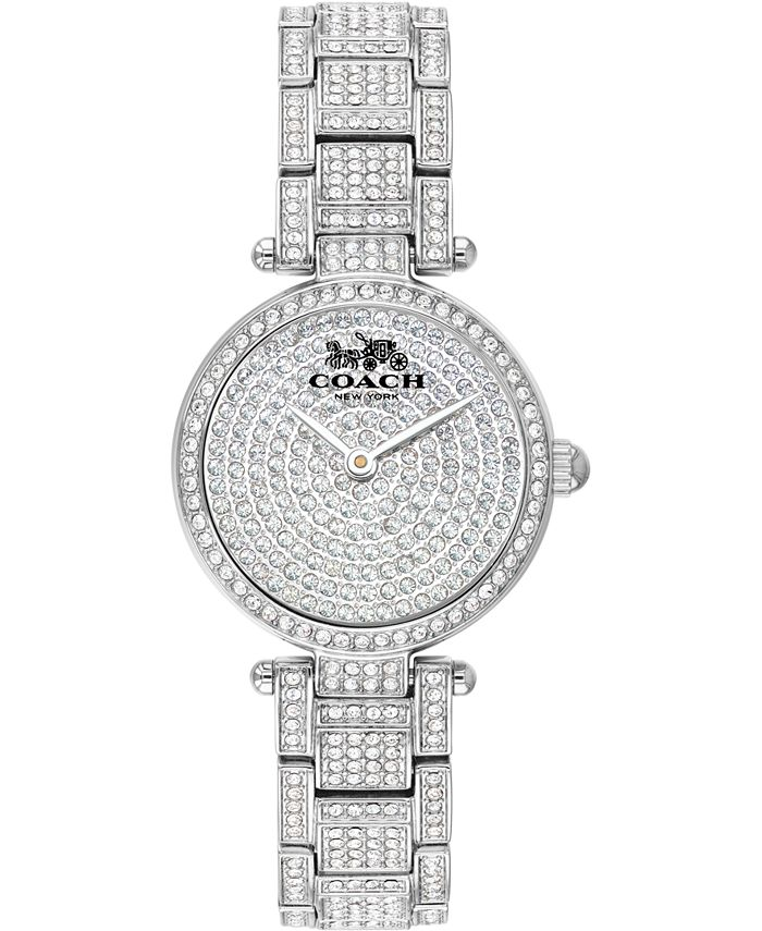 COACH - Women's Park Pavé Stainless Steel Bracelet Watch 26mm