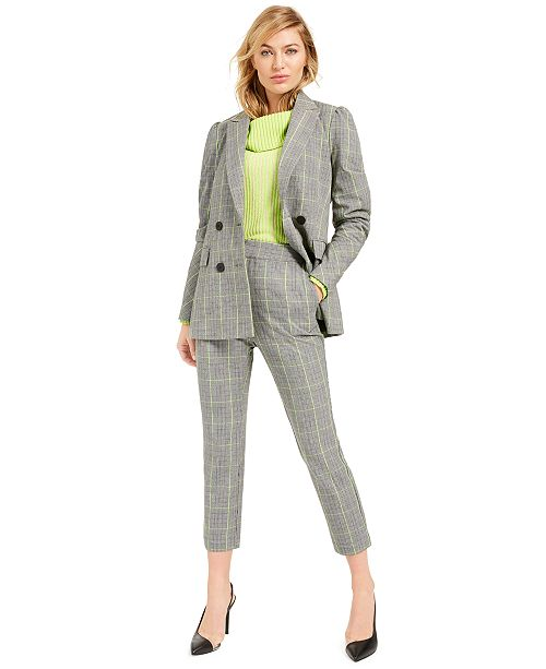 Bar III Becca Tilley x Powersuit Plaid Blazer, Sweater and Pants, Created For Macy.s