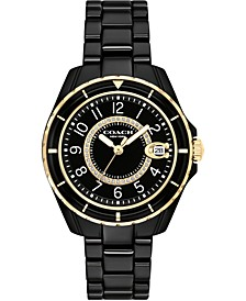 Women's Preston Black Ceramic Bracelet Watch 32mm