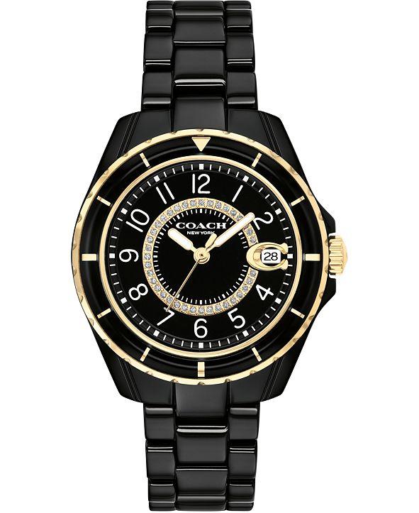 COACH Women's Preston Black Ceramic Bracelet Watch 32mm