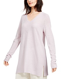 Side-Slit Tunic Sweater, Regular & Petite