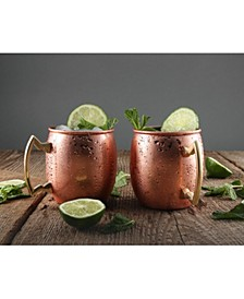 20 oz Solid Copper Moscow Mule Mugs - Set of 2