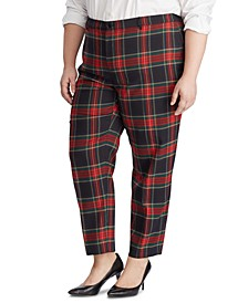 Plus Size Plaid Suit Pants