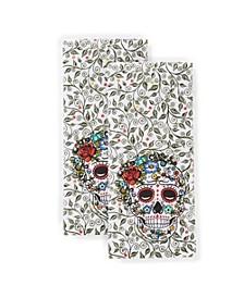 Skull & Vine Kitchen Towel, Set of 2