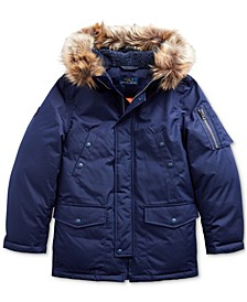 Big Boys Faux Fur–Trim Down Parka
