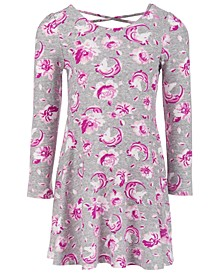 Little Girls Floral Unicorn Dress, Created For Macy's