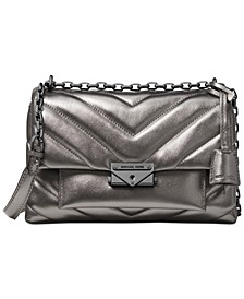 Cece Chevron-Quilted Metallic Leather Crossbody