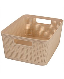 HDS Trading Trellis Medium Storage Basket with Cut-Out Handles
