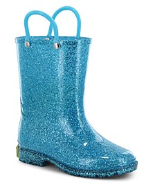 Toddler, Little Girl's and Big Girl's Glitter Rain Boots