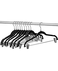 Velvet Hangers with Clips, 10 Pack