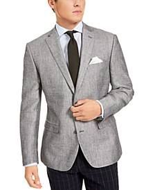 Men's Slim-Fit Gray Textured Sport Coat, Created For Macy's