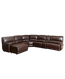 Harvey 6-Pc Recliner Sectional Sofa