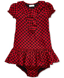 Baby Girls Checked Dress & Bloomer