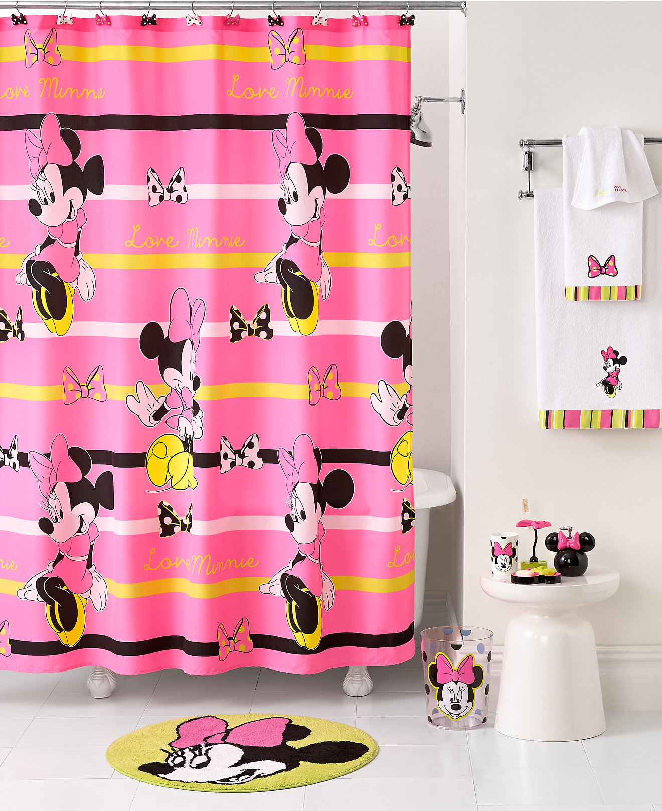 Disney Bathroom Disney Bath Neon Minnie Collection Bathroom Accessories Bed