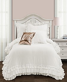 Ella Ruffle Lace 2-Piece Twin XL Comforter Set