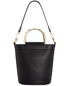 INC Leiza Bamboo Handle Bucket Bag, Created For Macy's