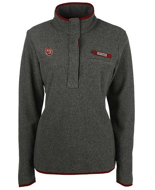Columbia Women's Oklahoma Sooners Harborside Fleece Pullover