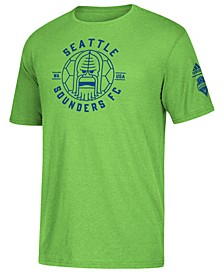 Men's Seattle Sounders FC Linear Icon Tri-Blend T-Shirt