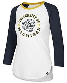 Women's Michigan Wolverines Script Splitter Raglan T-Shirt