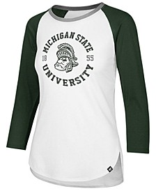 Women's Michigan State Spartans Script Splitter Raglan T-Shirt