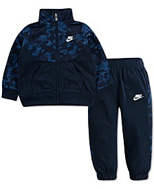 Baby Boys 2-Pc. Textured Camouflage Full-Zip Jacket & Jogger Pants Set