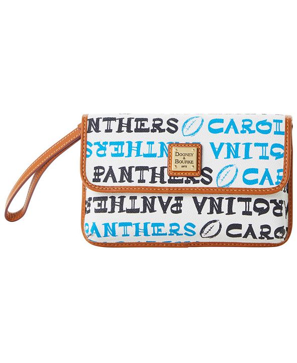 Dooney & Bourke Carolina Panthers Doodle Milly Wristlet