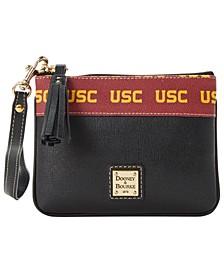 USC Trojans Saffiano Stadium Zip Wristlet