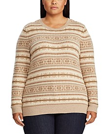 Plus Size Fair Isle Crewneck Sweater