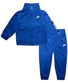 Baby Boys 2-Pc. Logo-Trim Jacket & Jogger Pants Track Set