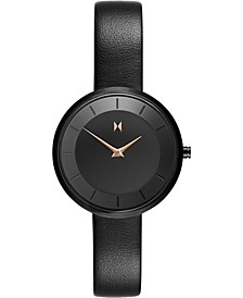 Women's Mod B2 Black Leather Strap Watch 32mm