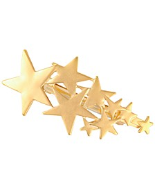 Gold-Tone Multi-Star Hair Barrette