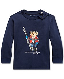 Baby Boys Ski Bear Cotton Jersey T-Shirt