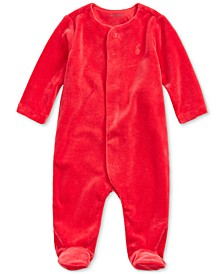 Baby Boys Velour One-Piece Coverall