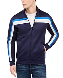 Men's Crossbody Stripe Track Jacket, Created For Macy's