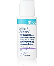 Brilliant Cleanse - Travel Size Skin-Smoothing Alpha Beta Hydroxy Cream Face Cleanser, 2 oz