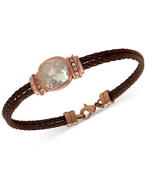 GUESS Cubic Zirconia Cable Bracelet