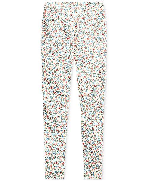 Polo Ralph Lauren Big Girls Floral Stretch Jersey Legging