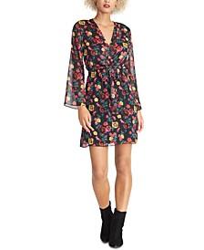 Tie-Waist Floral Print Dress