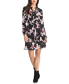 Ally Floral-Print  Belted Shirtdress
