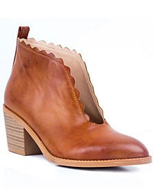 Maris Zigzag Cut-Out Ankle Boot