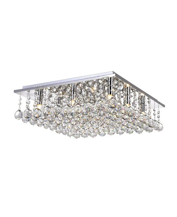 CWI Lighting Sparkle 9 Light Flush Mount