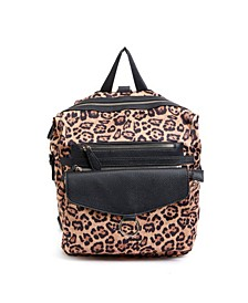 Leopard Print Backpack