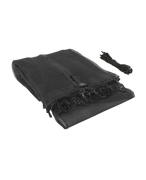 Upperbounce Trampoline Replacement Enclosure Safety Net, Fits for 13' Round Frames, Using 4 Arches, with Sleeves on top