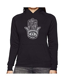Women's Word Art Hooded Sweatshirt - Hamsa