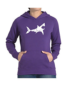 LA Pop Art Women's Word Art Hooded Sweatshirt -Bite Me