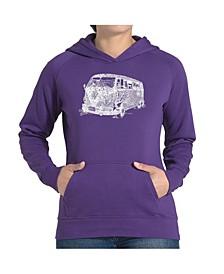 Women's Word Art Hooded Sweatshirt -The 70's