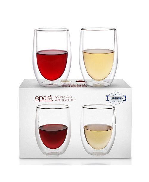 Epare Epare Double-Wall Wine Glass- Set of 2