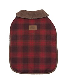 Red Ombre Plaid Dog Coat, Small